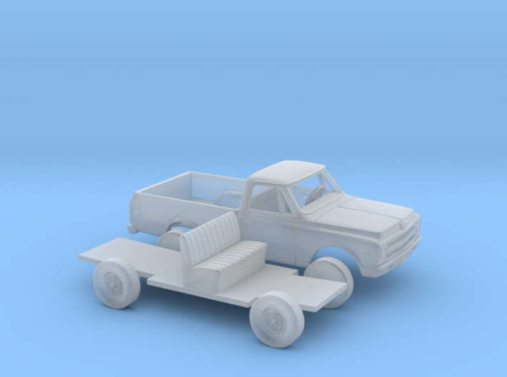 1/87 1967-69 Chevy C-Series Short Bed Kit 3d printed