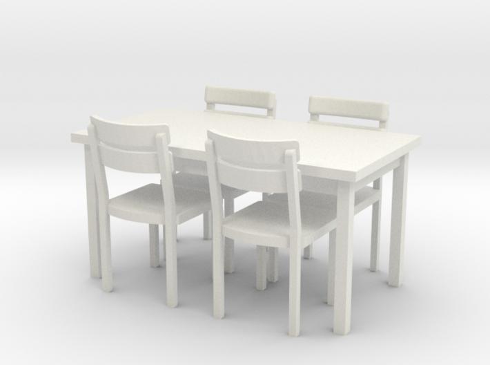 Tisch und Stuehle 1:45 (Spur 0) 3d printed