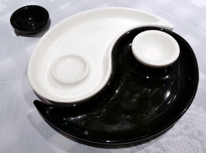 yin yang dish with little bowl for souce 83dw256ce by joie