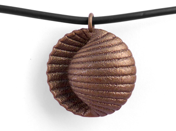 Ando Pendant 3d printed Ando in Polished Bronze Steel