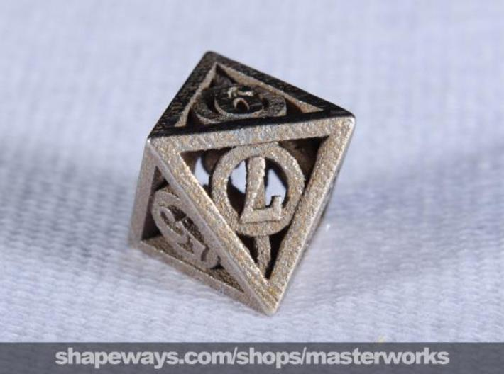 Deathly Hallows d8 3d printed Stainless Steel