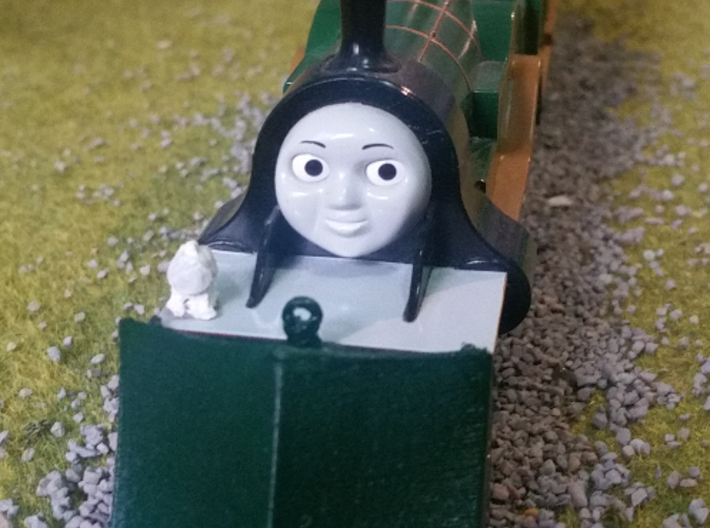 Tomy / Trackmaster Snowplough Type 3 Size 4 3d printed An example on an HO model