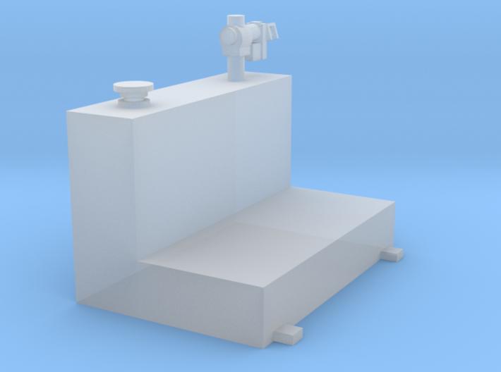 1/64 80 gallon L shape tank 3d printed