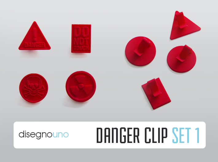 Party Accessories | Danger (4 pz) 3d printed