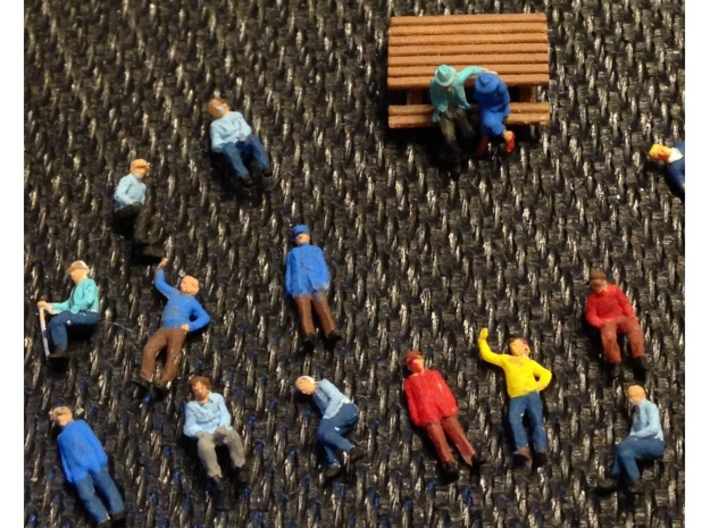 Z SCALE Figure pack #1 3d printed Figures painted by Southernscale