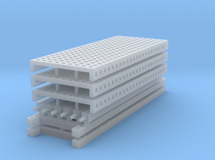 1/64 3 High 10ft Pallet Racking with mesh 3d printed