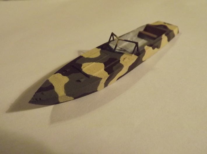1/72nd (20mm) WW2 Russian (Soviet) motor boat body 3d printed