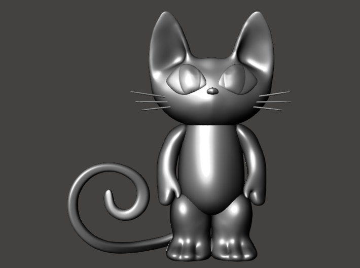 cat art 6 inches 3d printed