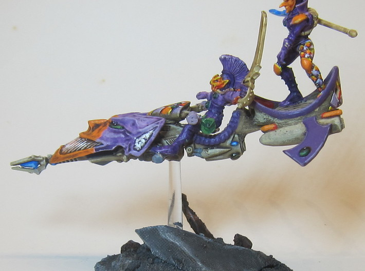 (x6) conversion part for old Harlequin Jetbike 3d printed Example of a completed model using this product with other model parts.