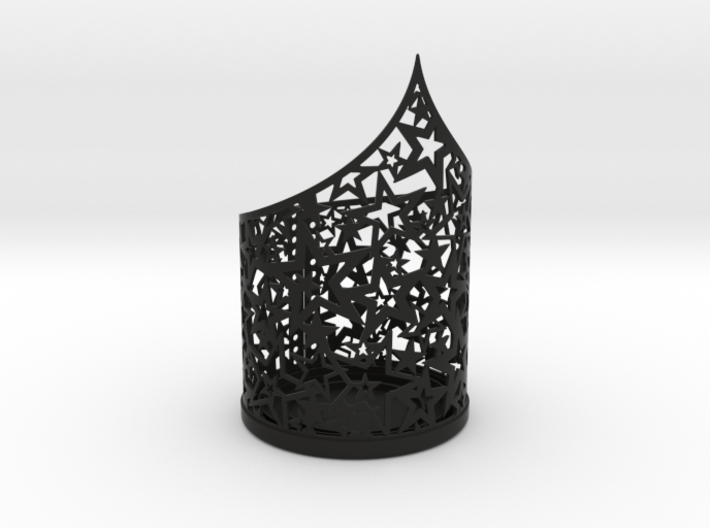 Christmas tealight holder with stars 3d printed