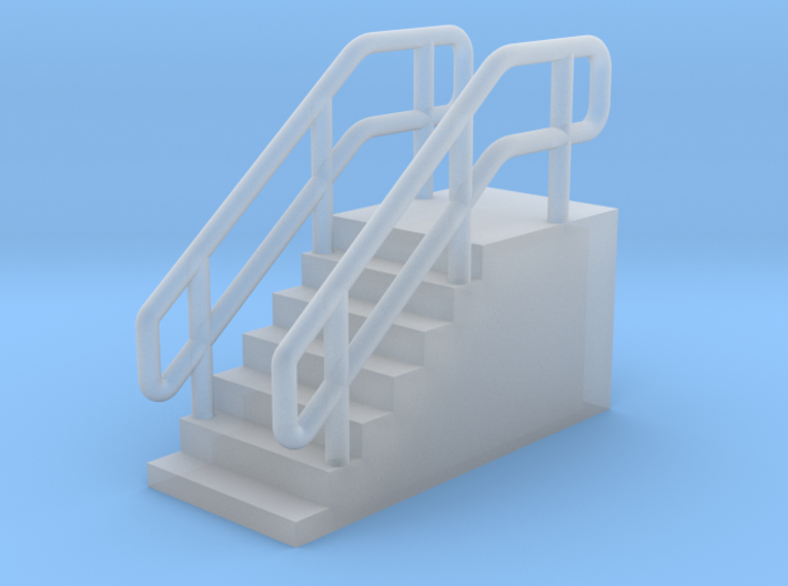 N Scale Loading Dock Stairs 8.4 3d printed