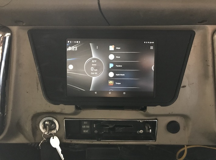 67-72 Chevy C10 Nexus Tablet Dash Mount 3d printed Add your Nexus Google 7 tablet to make the ultimate media center for you classic truck!