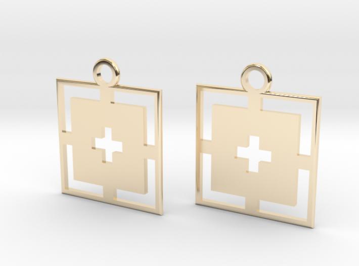 square cross earrings 3d printed