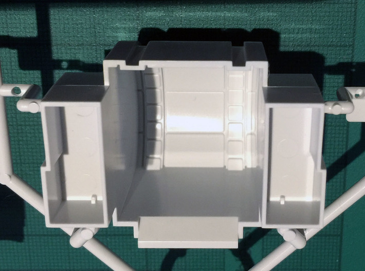 Perfect Grade Falcon 1:72 Ramp Hall 1B: Ledge 3d printed Bandai modelled the corridor as a cylinder