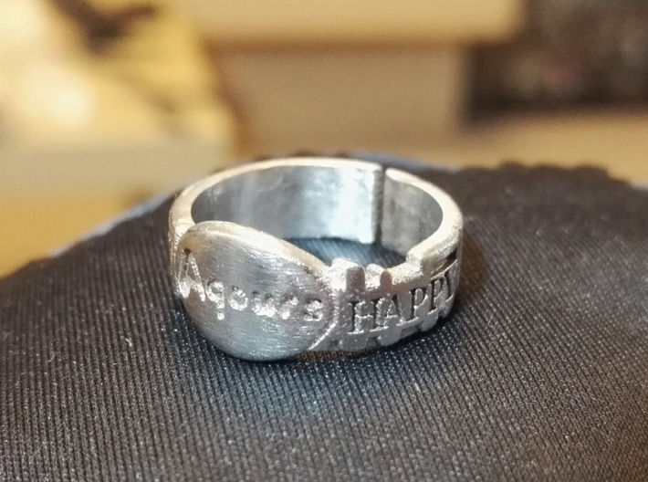 Happy Party Train Tour Ring - Love Live - Aqours 3d printed stainless steel version (roughly polished)