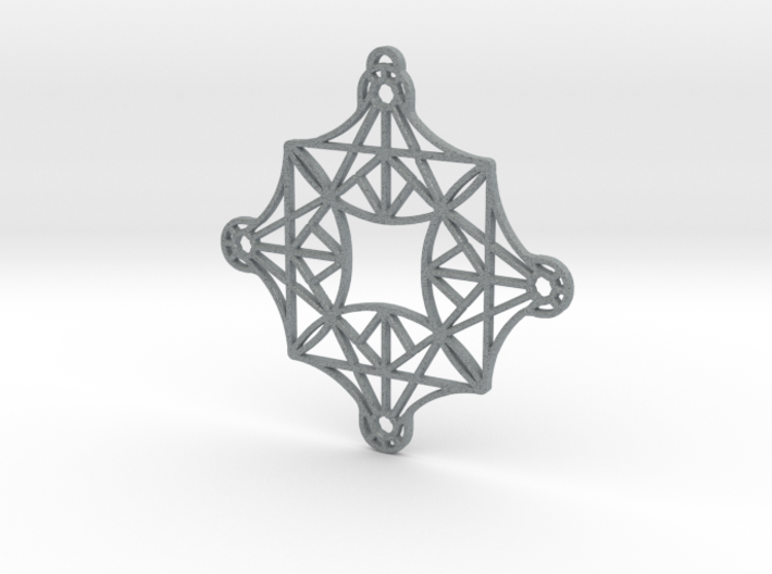 DoodleFan Earring or Pendant (Square) 3d printed