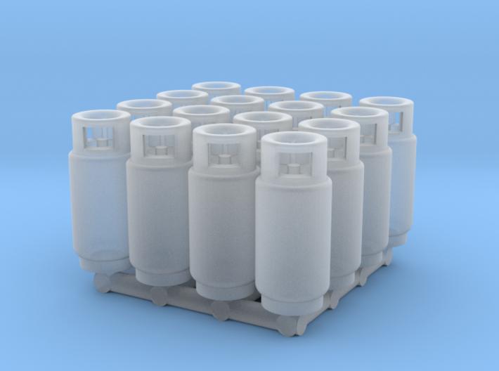 LPG Tank (HO - 1:87) 16X 3d printed