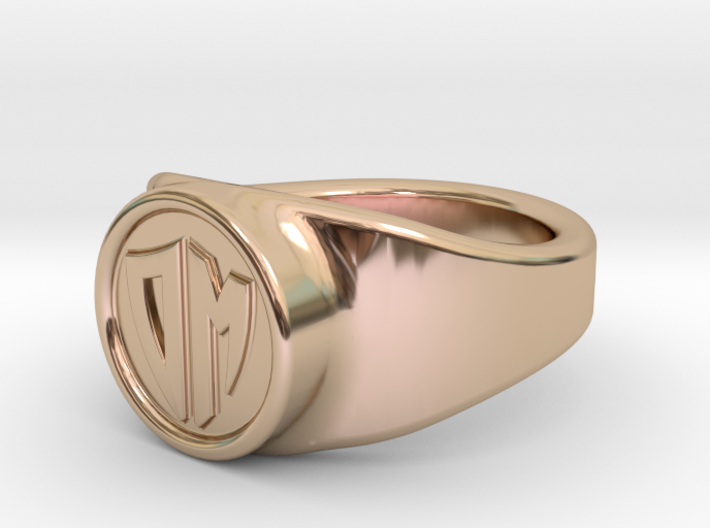 Customizable signet ring 3d printed