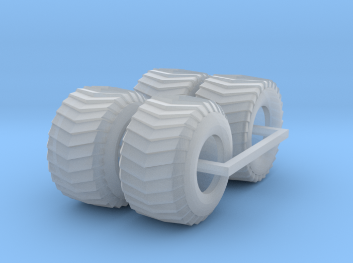 1/87 puller front and rear tires 3d printed
