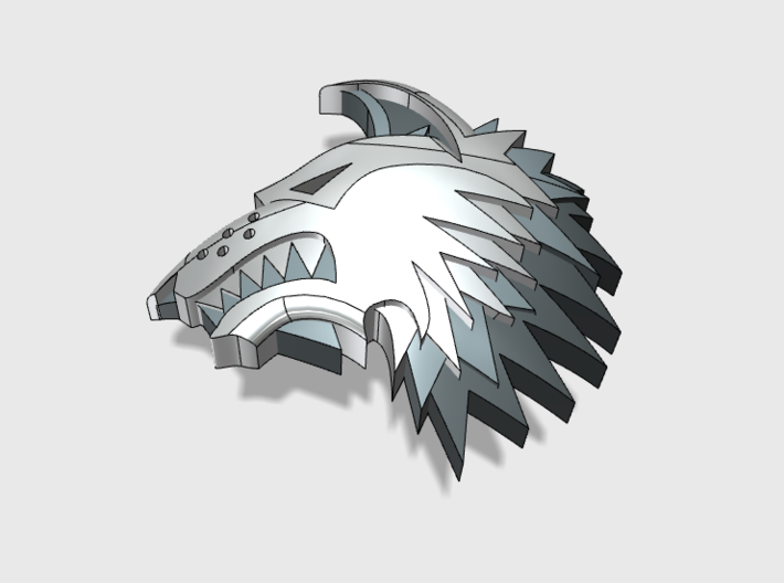 60x Shaggy Wolf : Left Shoulder Insignia pack 3d printed