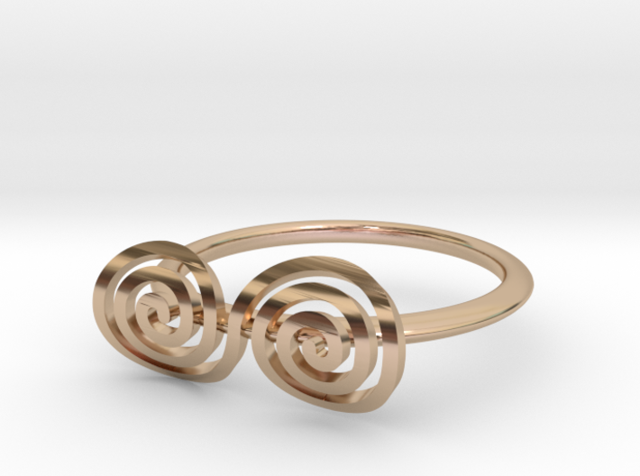 """Celtic """"life and death"""" turned spiral ring 3d printed"""