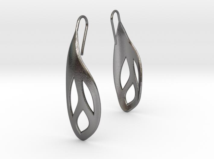 Flos earrings 3d printed