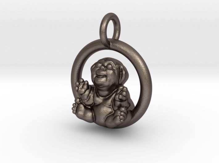 """""""Fubby"""" Pendant 3d printed Stainless Steel - The Original Fubby - By Rod Maxwell"""
