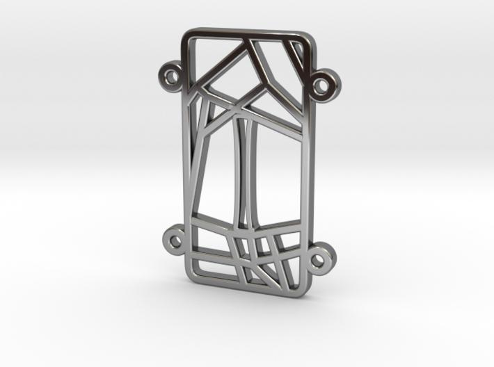 Personalised Inkscape Voronoi Pattern Bracelet (I) 3d printed Personalised Inkscape Voronoi Pattern Bracelet (I)