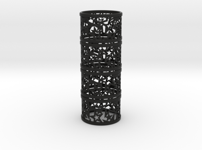 Set of 4 large Christmas napkin rings with Stars 3d printed
