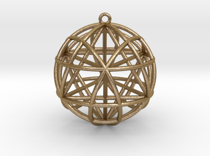 Star Tetrasphere w/nested Star Tetrahedron 3d printed