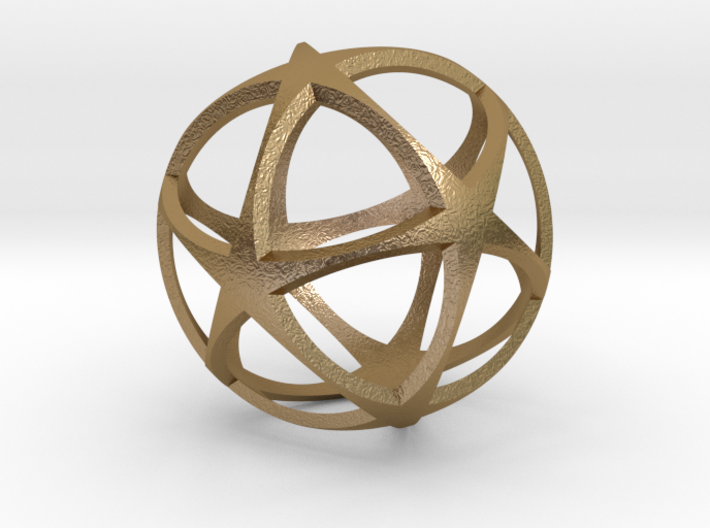 0718 Star Ball (Icosohedron with Stars) 5.0cm #002 3d printed