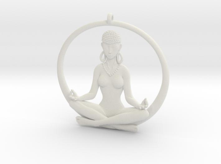 Sukhasana Yogini Pendant 5.5cm 3d printed