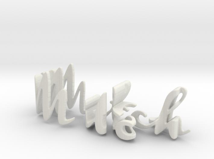 3dWordFlip: Mitch/Elly 3d printed