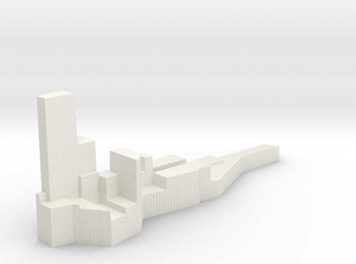 Manhattan Property Prices 3d printed