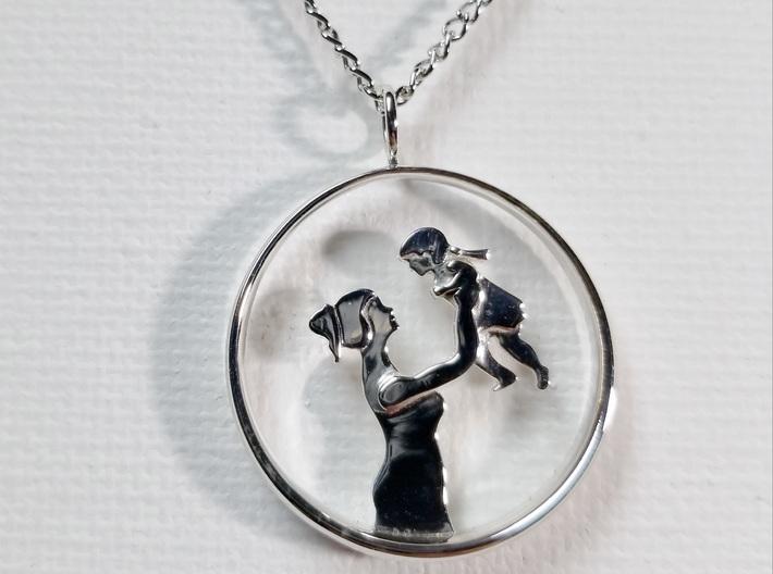 Mother & Daughter Pendant 1 -Motherhood Collection 3d printed