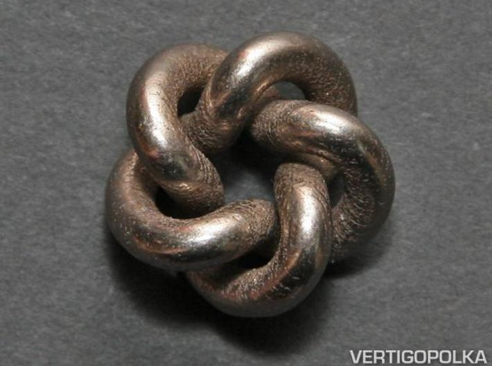 Cinquefoil Knot 1inch 3d printed Cinquefoil Knot 1inch - stainless steel