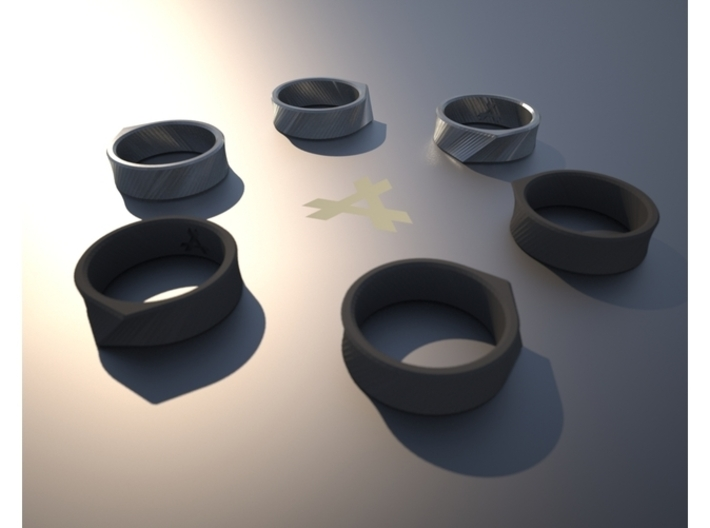 Q - Ring / Size 8 3d printed