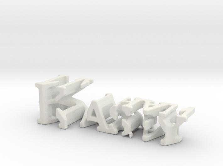 3dWordFlip: Kasey/Nathan 3d printed