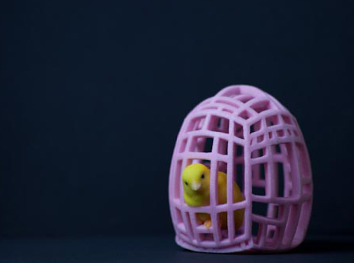 The Easter Chick - a - Dee (Light Pink) 3d printed Little Chickadee is the ultimate companion.