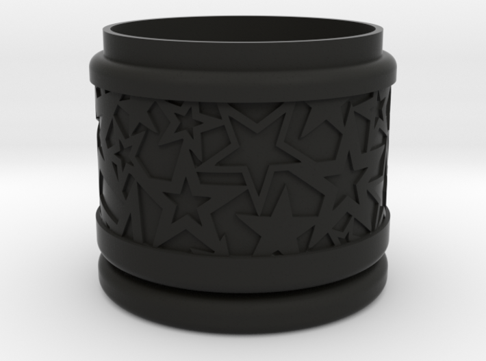 Gift Box No. 1 with Stars (solid, short) 3d printed
