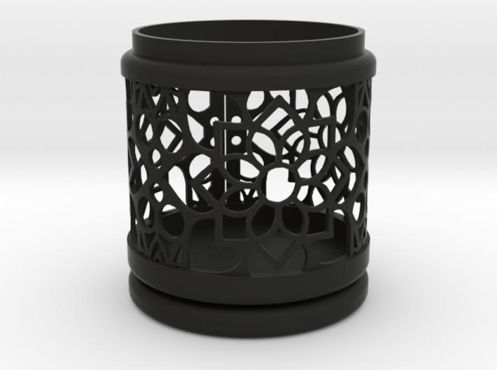 Gift Box No. 1 with Mosaic-2 (filigree, high) 3d printed