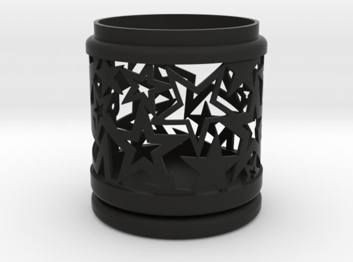 Gift Box No. 1 with Stars (filigree, high) 3d printed