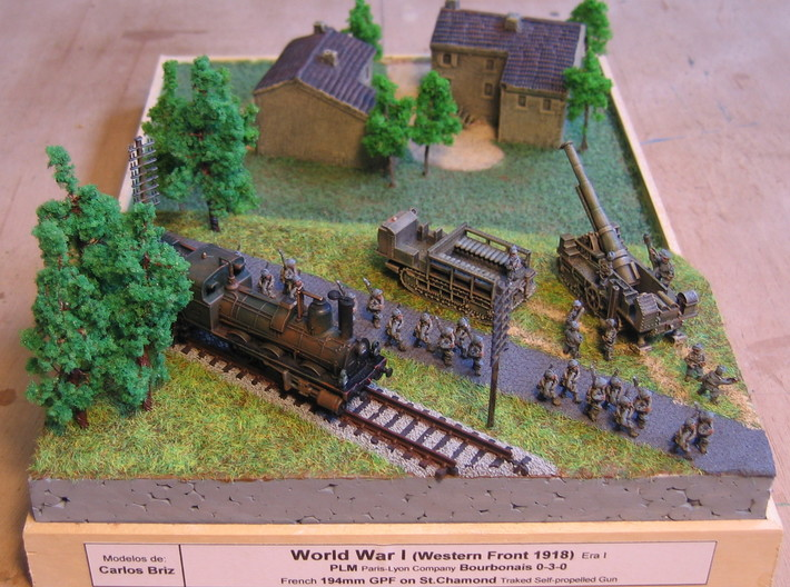 French 194mm GPF on St. Chamond 1/144 3d printed Dio by Carlos Briz. Thanks for sharing!