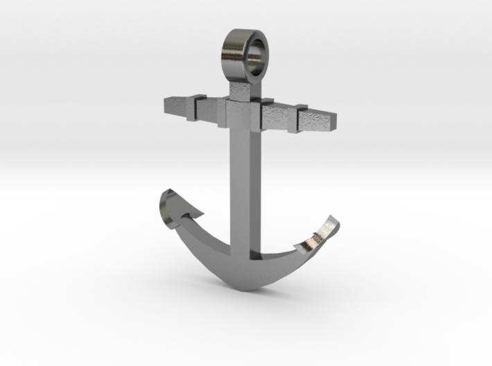 Boat anchor [pendant] 3d printed
