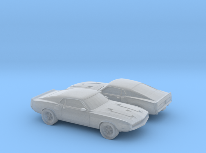 1/160 2X 1969 Ford Shelby GT 500 3d printed