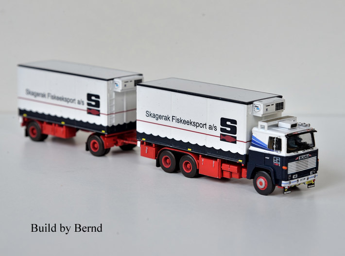 Scania 141 refrigerated lorry 1:120 scale 3d printed A beautifull version made by one of my customers