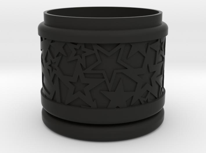 Gift Box No. 1 with Stars (solid-filigree, short) 3d printed