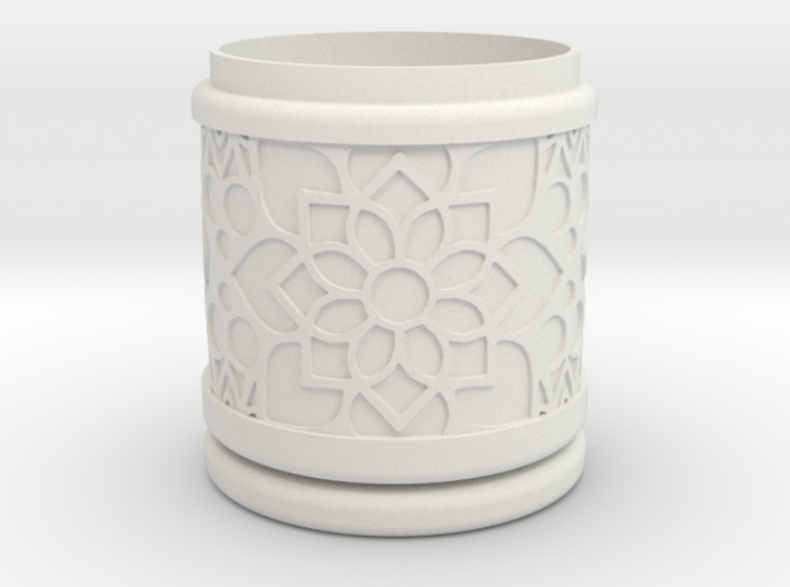 Gift Box No. 1 with Mosaic-2 (solid-filigree high) 3d printed