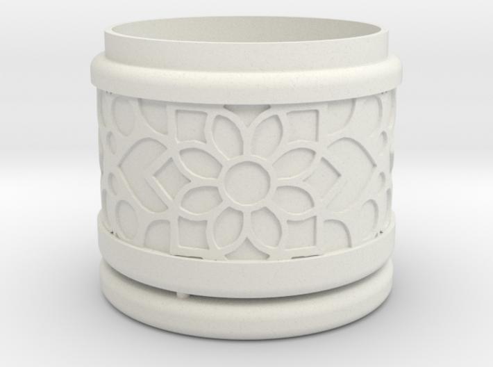 Gift Box No.1 with Mosaic-2 (solid-filigree short) 3d printed