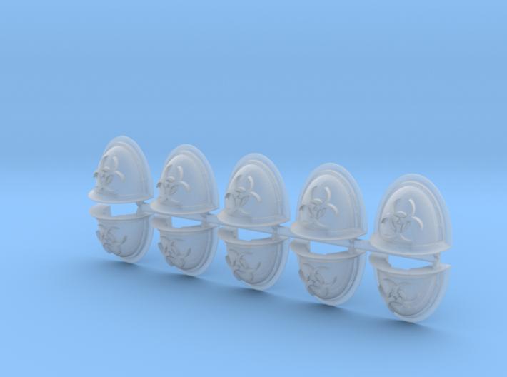 Biohazard Power Armour Shoulder Pads Mk2.5 3d printed